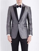 Turnbull & Asser Geometric regular-fit silk jacket