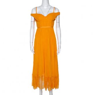 Self-Portrait Orange Silk Dresses