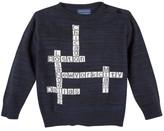 Andy & Evan Crossword Cotton Sweater (Baby Boys)