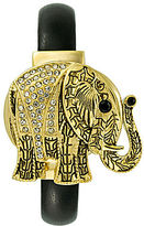 JCPenney FASHION WATCHES Crystal Accent Hidden Dial Elephant Cuff Watch