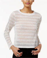Bar III Mesh Striped Top, Only at Macy's