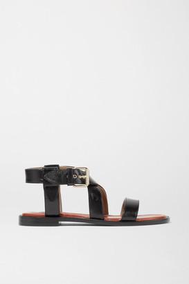 Chloé Aria Leather Sandals - Black