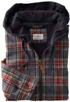L.L. Bean L.L.Bean Scotch Plaid Flannel Shirt, Slightly Fitted Hooded Full-Zip