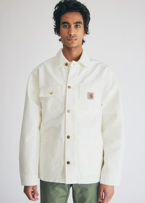 Carhartt WIP Men's Michigan Coat In Wax in Wax, Size Small   100% Cotton