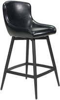 ZUO Black Dresden Swivel Barstool