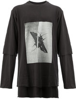 Song For The Mute insect print layered T-shirt
