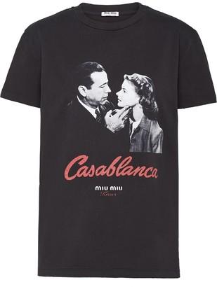 Miu Miu Casablanca kisses jersey T-shirt