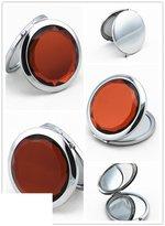 FSHFK crativ gift/Snd girlfrind portabl mak-up mirrors/ lathr mirror/ small Crystal makup mirror