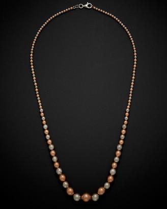 Italian Gold 14K Two-Tone Graduated Bead Necklace