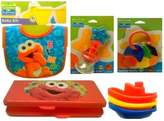 Sesame Street Sesame Beginnings Elmo Babies Package Includes: Sesame Beginnings Elmo Baby Bib, Sesame Beginnings Baby Tub Float Toys, Sesame Beginnins Teether Rattle, Sesame Beginnings Water-filled Teether Rattle & Sesame Beginnings Wipes Travel Case BPA Free