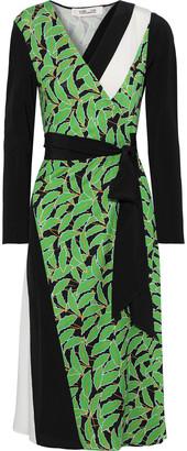 Diane von Furstenberg Maureen Printed Silk-jersey Wrap Dress