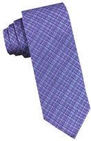 Perry Ellis Screen Woven Plaid Silk Tie