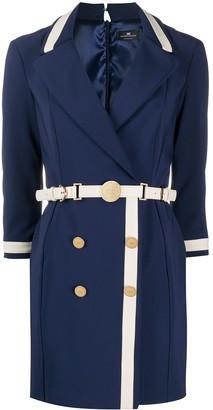 Elisabetta Franchi Two-Colour Belted Dress