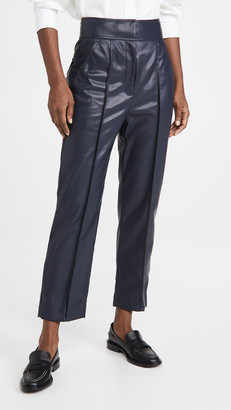 Vegan Leather Stovepipe Pants