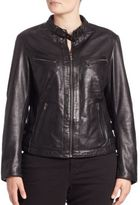 Slink Jeans, Plus Size Leather Moto Jacket