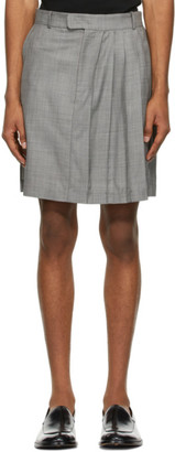 Situationist Grey Wool Classic Half Pleated Skirt