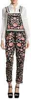Needle & Thread Cherry Blossom Embroidered Dungarees, Black