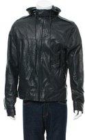 Mike & Chris Leather Plaid-Lined Jacket