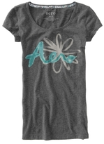 Aeropostale Flower Graphic Sleep Tee