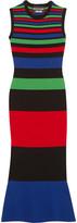 Moschino Striped Stretch-knit Midi Dress - Red