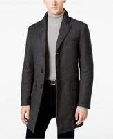 Sanyo Men's Chesterfield Houndstooth Down Overcoat