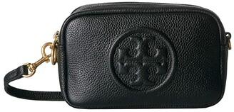 Tory Burch Perry Bombe Mini Bag (Black) Handbags