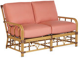 Lane Venture Celerie Kemble For Mimi Loveseat - Coral Sunbrella - frame, natural; upholstery, coral