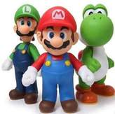 New 3pcs Nintendo Super Mario Bros Luigi Mario Action Figures Toys Gift by Baby Toy Gift Sets