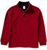 Class Club Big Boys 8-20 Reversible Pullover Quarter-Zip Shirt