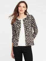 Old Navy Classic Cheetah-Print Cardi for Women