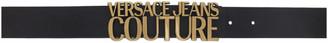 Versace Jeans Couture Black Signature Logo Belt