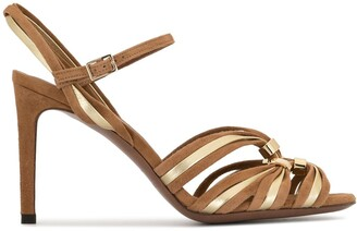 L'Autre Chose Two-Tone Strappy Sandals