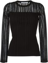 Alexander Wang perforated longsleeved top - women - Cotton/Polyester/Spandex/Elastane - S