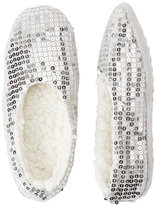capelli new york Sequined Faux Fur Slippers