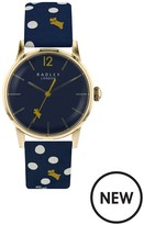 Radley Vintage Dog Dot Leather Strap Watch