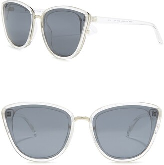 Cole Haan Plastic Cat Eye 60mm Polarized Sunglasses