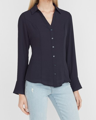 Express Fitted Button-Up Portofino Shirt