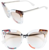 Fendi Women's 53Mm Retro Sunglasses - Azure/ Crystal