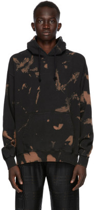 Cmmn Swdn Black and Brown Bleach Shawn Hoodie