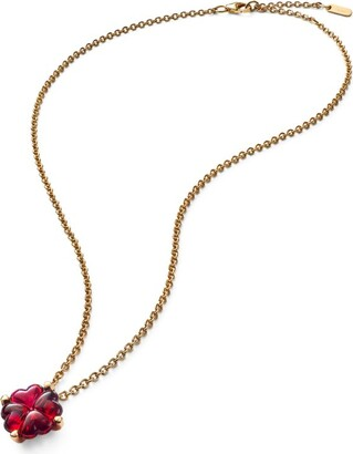 Baccarat Gold-Plated Sterling Silver and Crystal Trefle Choker