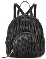 Miu Miu Matelassé leather backpack bag