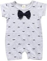 Kids Tales Summer Newborn Baby Boys Bowtie Short Sleeve Romper Jumpsuit Bodysuit