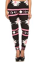 Ring Printed Aztec Leggings