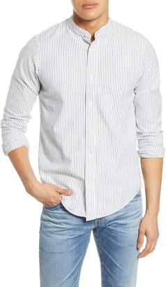 Scotch & Soda Trim Fit Band Collar Button-Up Shirt