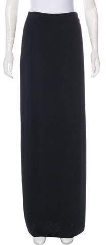 St. John Wool-Blend Knit Maxi Skirt