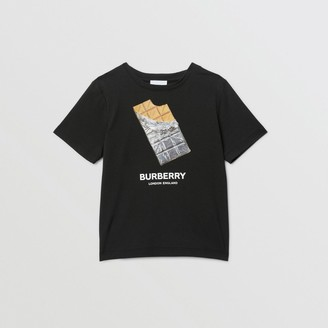 Burberry Childrens Confectionery Print Cotton T-shirt