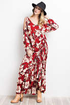 Easel Cold Shoulder Maxi-Dress