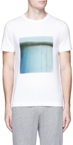 Theory 'Gaskell N' square print cotton T-shirt