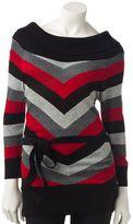 Iz Byer california striped marilyn sweater