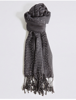 M&S Collection Sequin Striped Scarf